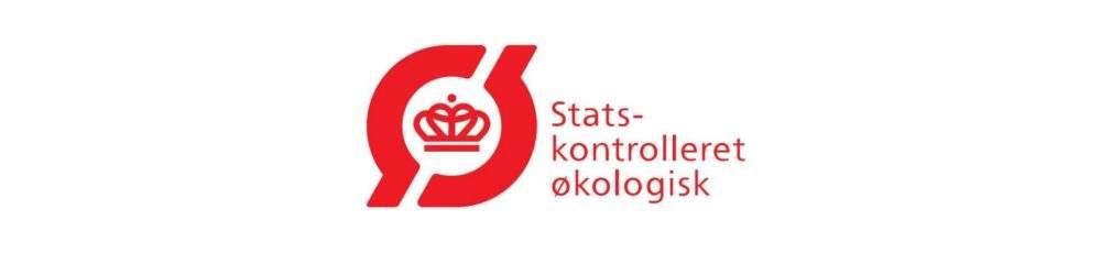 Statskontrolleret Økologisk - rødt logo på hvid baggrund
