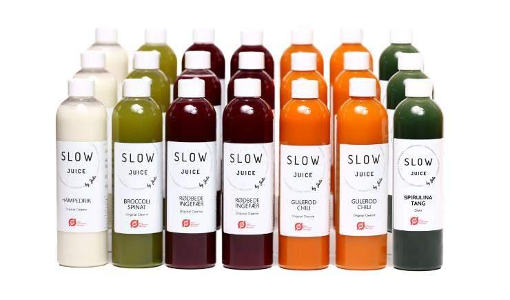 Slowjuice kur 3 dages original oekologisk paa hvid baggrund
